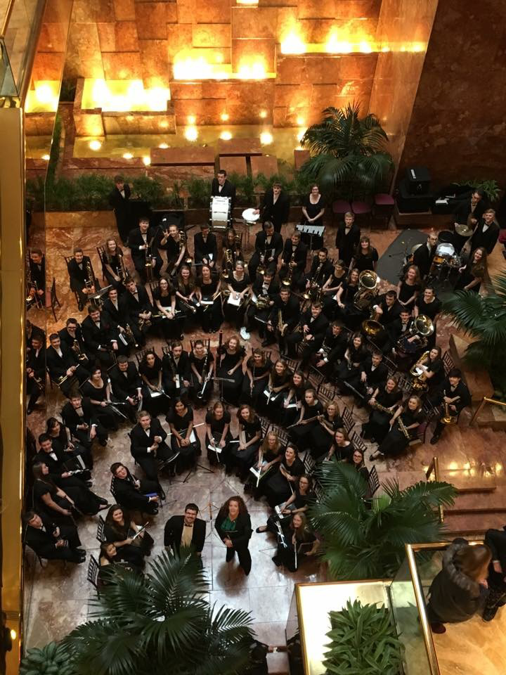 Edwardsburg High School Band's recent trip to New York City.